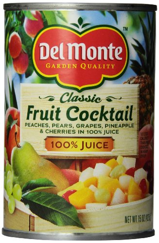 Del Monte Fruit Cocktail Natural, 15-Ounce Packages (Pack of 12) (Del Monte Fruit Naturals compare prices)