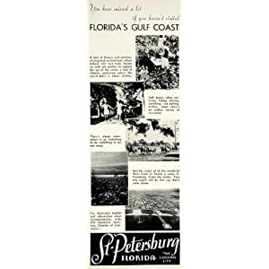 1936 Ad St Petersburg Florida Gulf Coast Deaderick Vacation Destination Holiday - Original Print Ad