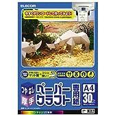 エレコム ペーパークラフト用紙 マット調 A4サイズ 30枚 【日本製】EJK-HC2WN