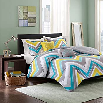 Intelligent Design Elise 5 Piece Comforter Set Blue Full/Queen