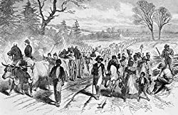 Freed Slaves Enter Union Lines, Harper's Weekly, Feb. 21, 1863 Photograph - Beautiful 16x20-inch Photographic Print from the Library of Congress Collection