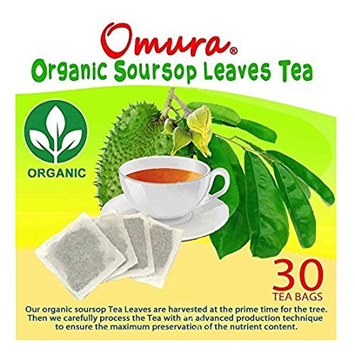 ORGANIC Omura SOURSOP LEAVES HERBAL TEA 100% Natural Graviola Leaves, (30 Tea Bags) (Soursop Juice compare prices)