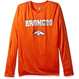 NFL Denver Broncos Boys Performance Long Sleeve Teeperformance Long Sleeve Tee, Orange, Large (14-16)