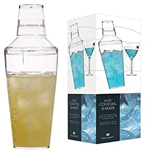 Barcraft Acrylic Cocktail Shaker, 700ml