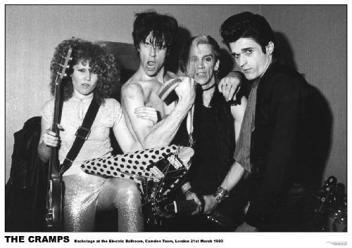 The Cramps The Electric Ballroom Camden Town London 21St March 1980 Punk Rock Music Paper Poster Measures 33 X 24 Inches (84 X 60 Cm) Approx