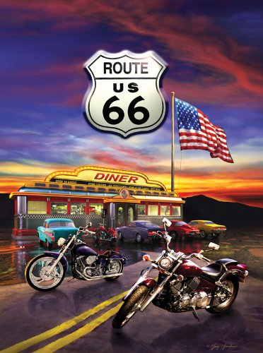 Route 66 Diner a 1000-Piece Jigsaw Puzzle by Sunsout Inc.