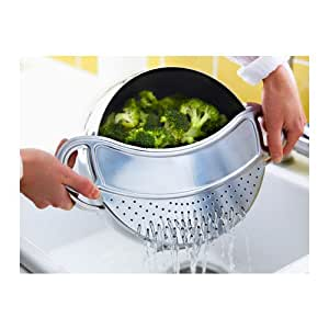 buy ikea stabil stainless steel pot strainer colander lid kitchen cookware online at low prices. Black Bedroom Furniture Sets. Home Design Ideas