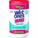 Toallas Humedas Wet Ones Big Ones Fresh Scent  antibacteriales, 65 toallas