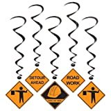 Construction Whirls Party Accessory (1 count) (5/Pkg)