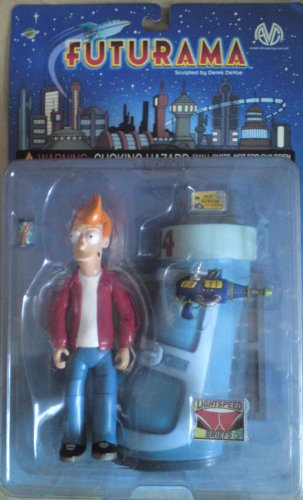 Futurama Philip J. Fry 6-Inch Action Figure Toy with Cryo-Freezing Chamber (Futurama Fry Toy compare prices)