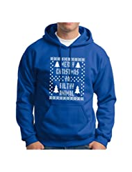 Christmas Sweatshirt Immitation Evergreen Snowflake