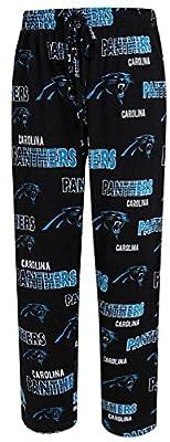 Carolina Panthers Mens Black Sweep Pajama Pants by Concepts Sports (M=32-33)