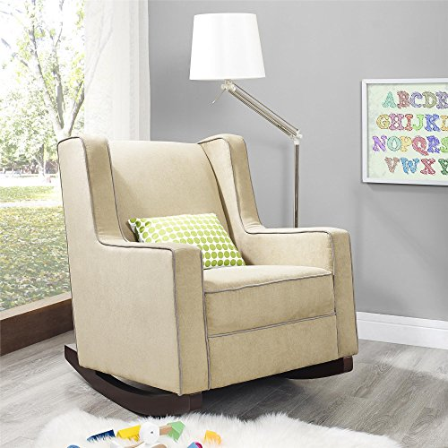 Dorel Asia The Abby Nursery Rocker Chair, Beige - 1