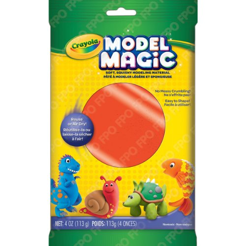 Crayola Model Magic Clay Bag, Neon Red, 4-Ounce