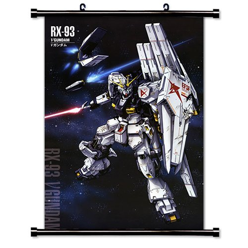 """Mobile Suit Gundam Chars Counterattack Anime Fabric Wall Scroll Poster (16"""" x 24"""") Inches. [WP]Gundam Chars 21"""