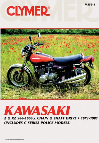 Clymer Kawasaki Z & KZ 900-1000cc Chain and Shaft Drive (1973-1981) (Includes C Series Police Models)