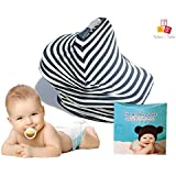 Tykes & Tails - 5 In 1 Baby Breastfeeding Cover, Car Seat Cover, Shopping Cart Cover And Trendy Scarf - Black...