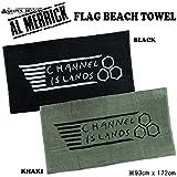 AL MERRICK アルメリック FLAG BEACH TOWEL ビーチタオル CHANNEL ISLANDS チャンネルアイランド (KHAKI)
