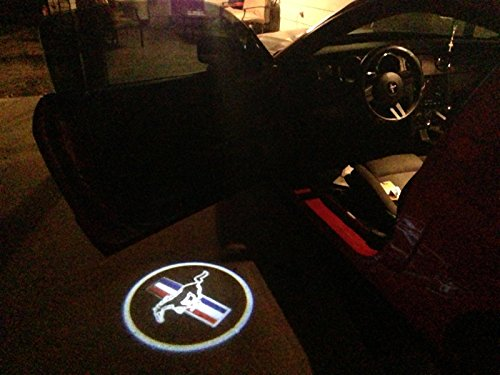 mustang ford ghost door logo projector shadow puddle laser. Black Bedroom Furniture Sets. Home Design Ideas