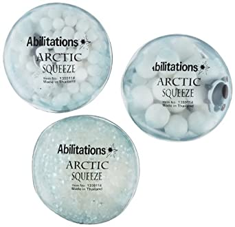Abilitations Arctic Squeeze Fidget Balls - 2 3/4 inches - Set of 3