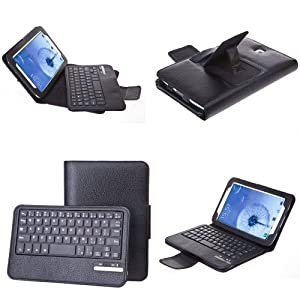 SUPERNIGHT® Detachable Removable Bluetooth Keyboard PU Leather Protective Case Tablet with Stand for Samsung Galaxy Note8.0 GT-N5100/N5110/ Tablet Black Color