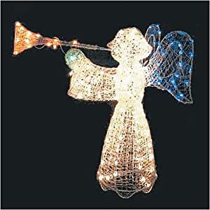 Lighted Outdoor Christmas Angel 200 Lights Crystal Decoration