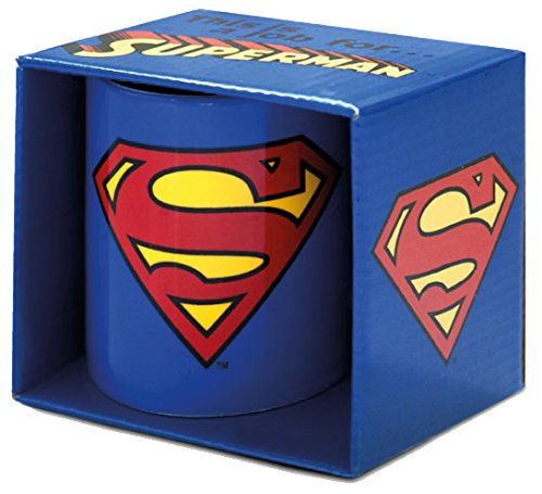 Logoshirt - Tazza Superman - DC Comics - Superman Logo tazza da caffè - blu - Design originale concesso su licenza