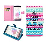 LG G3 Case,Nancy's Shop Sparkle Pattern Premium Pu Leather Wallet [Stand Feature] Type Magnet Design Flip Protective Credit Card Holder Pouch Skin Case Cover for LG G3[NOT for LG G3 vigor/Vista] (Built-in Credit Card/id Card Slot)-(Aztec Tribal Keep Calm and Hakuna Matata Nancy's Shop Lg G3 Case Cover)