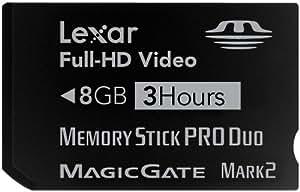 Lexar Carte Mémoire Memory Stick 8 Go Pro Duo Noir Mark 2 LMSPD8GBBSBEU