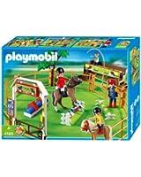 Playmobil - 4185 - Jeu de construction - Cavaliers et carrière