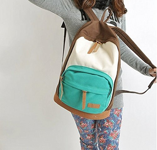 WEINISITE Newly Arrived Canvas Mixed Color Travel Bag for Young Ladies and Girls-Teal