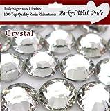 Pack of 1000 x very Flat Back Rhinestone Diamante Gems 4mm