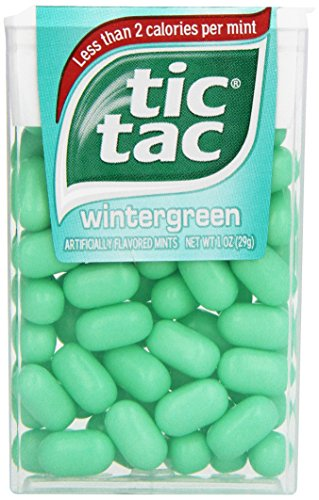tic tac Wintergreen Singles, 1 Ounce (Pack of 12) (Year Supply Of Gum compare prices)