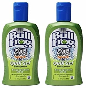 Bull Frog Water Armour Sport Quik Gel Sunscreen SPF 50, 5oz (Pack of 2)