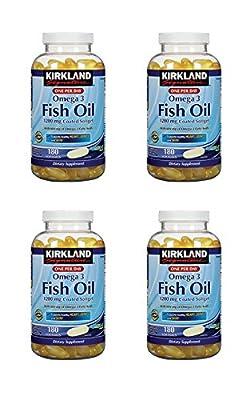 Kirkland Fish Oil 684 mg Omega-3 - 4 Bottles, 180 Softgels Each