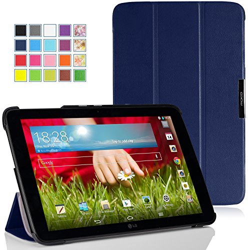 MoKo LG G Pad 10.1 Case - Ultra Slim Lightweight Smart-shell Stand Case for LG G Pad 10.1 inch Android Tablet, INDIGO
