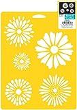 Plaid Delta Stencil Mania Daisies, Size 7-Inch by 10-Inch