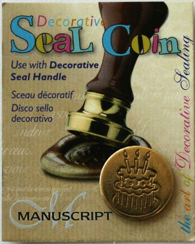 Manuscript Pen 727CAK Decorative Seal Coin, 0.75-Inch, Cake - 1