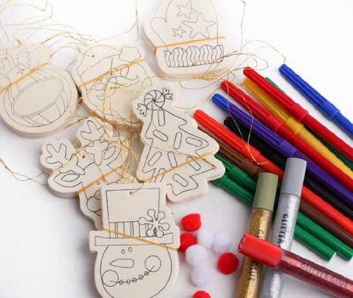 Kid friendly decorate your own holiday ornament crafting for Decorate your own christmas decorations