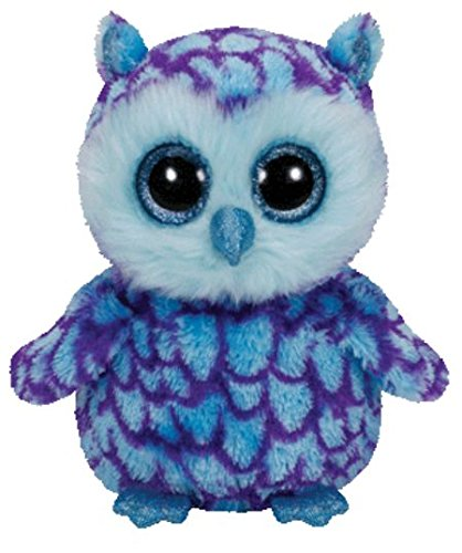 Ty Beanie Boos Oscar The Blue/Purple Owl Plush