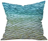 DENY Designs Shannon Clark Ombre Sea Throw Pillow, 20 by 20-Inch