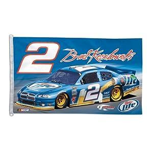 Buy #2 Brad Keselowski 2011 3X5 Two Sided Flag 82767011 by Brickels