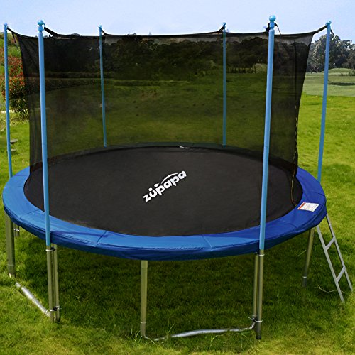 Zupapa 10 Ft Tuv Approved Trampoline With Ladder And Pole