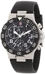 Victorinox Swiss Army - Reloj cronógrafo de cuarzo para hombre con correa de plástico, color negro