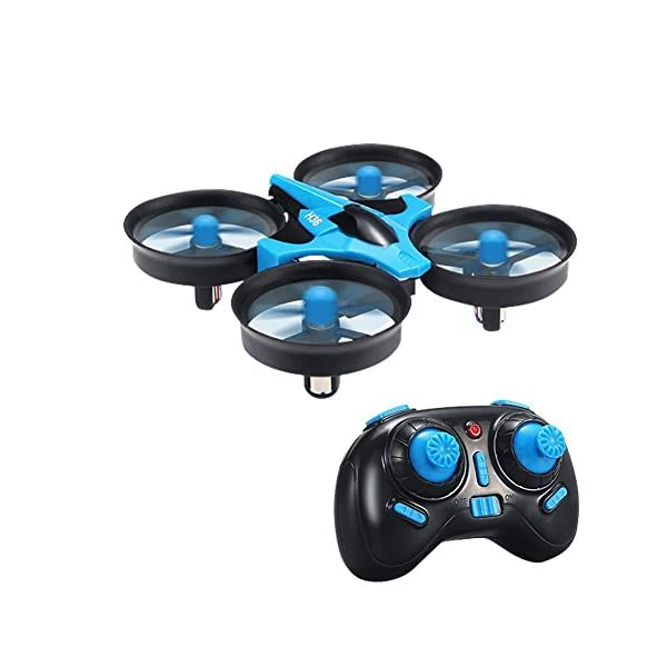 JJRC-H36-Mini-UFO-Quadcopter-Drone-24G-4CH-6-Axis-Headless-Mode-Remote-Control-Blue