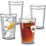 ThermalCraft Tumbler - Set of 4 Double Wall - USA Made Acrylic