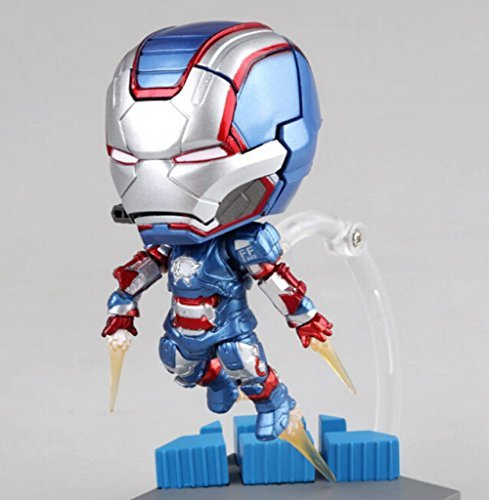 Rosy Women Games Iron Man Tony Stark Blue Armor Patriot Pvc Action Figures Collection Model Toys Doll (Iron Man Cosplay Armor)