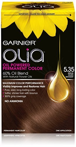 Garnier Olia Oil Powered Permanent Hair Color, 5.35 Medium Golden Mahogany (Hair Dye Women compare prices)