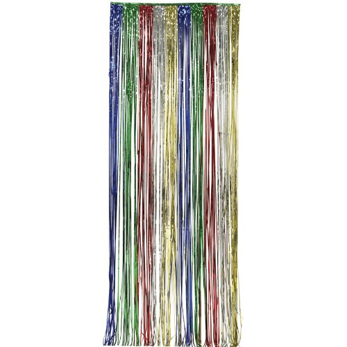Multicolor Fringed Curtain