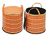"Super India PVC zipper storage cum laundry basket 50"" Diameter - 05"